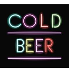 Neon font text design vector image
