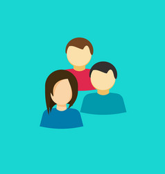 people group icon flat persons together vector image