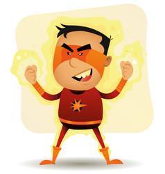 Power boy - comic superhero vector