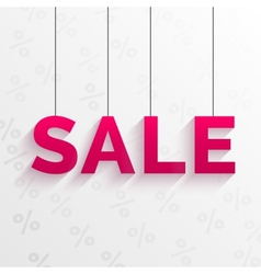 Sale tag Flat style design vector image vector image