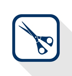 scissors flat icon vector image vector image