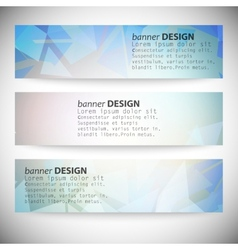 Set with polygonal abstract shapes circles lines vector image
