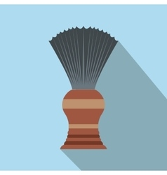 Shaving brush flat icon with shadow vector