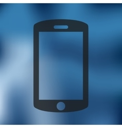 Smartphone icon on blurred background vector