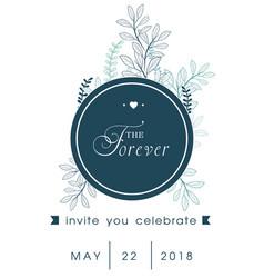 The forever invite you celebrate circle retro whit vector