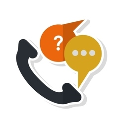 Isolated traditional phone design vector