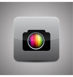 Camera application icon vector