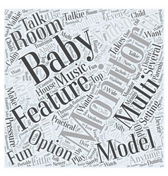 Setting up multi room baby monitors word cloud vector
