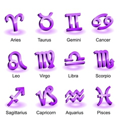 Horoscope zodiac star signs vector