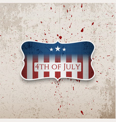 Happy fourth of july patriotic banner vector