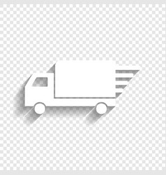 Delivery sign   white icon vector