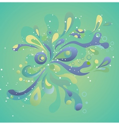 Abstract splash background vector