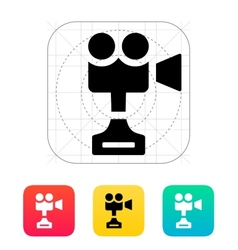 Camera cup icon on white background vector