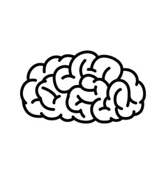 Outline human brain vector