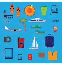 Travel vacation tourism icons vector