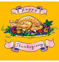 Thanksgiving turkey sketch vector