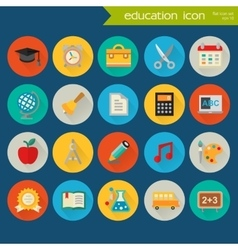 Detailed education icon set vector