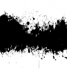 Ink splat banner vector