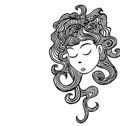sleepy girl vector image