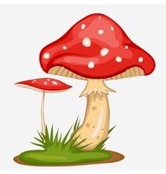 Red mushroom cartoon vector
