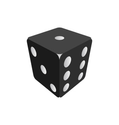 Black dice isolated on white background vector image