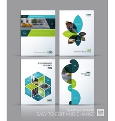 Brochure template layout collection cover design vector image