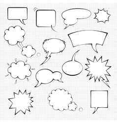 Comic speech bubble set vector image vector image