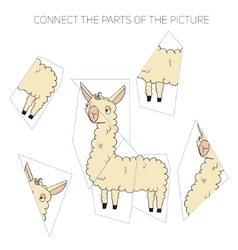 Connect parts of picture game vector image vector image