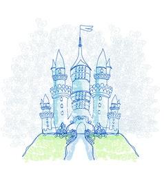 Doodle Sketchy Castle vector image
