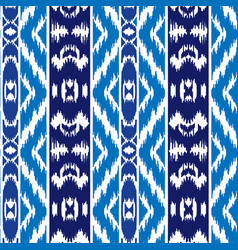 ethnic striped blue seamless pattern vector image
