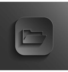 Folder icon - black app button vector