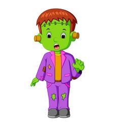 halloween frankenstein cartoon vector image vector image