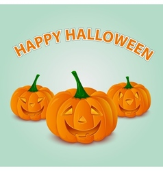 Halloween pumpkins card vector