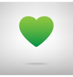 Heart symbol green icony backgroud vector