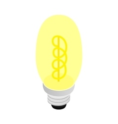Light bulb icon isometric 3d style vector image vector image
