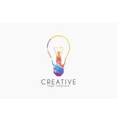 Lightbulb logo Idea logo Creative logo Bulb vector image vector image
