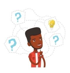 Man having business idea vector