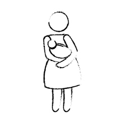 Mother with baby icon image vector