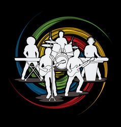 Music bands graphic vector