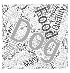 Natural dog food uk word cloud concept vector