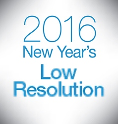 New year low resolution vector