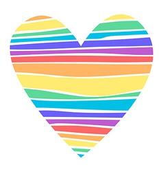 Rainbow heart vector