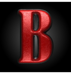 Red plastic figure b vector