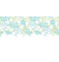 Scattered blue green branches horizontal seamless vector