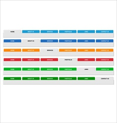 Simple web menu header set vector image