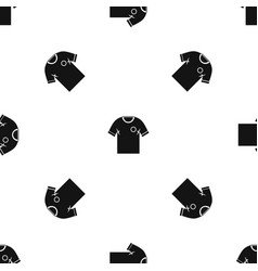 Soccer shirt pattern seamless black vector