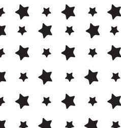 Stars sky black white pattern vector