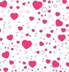 Valentine Day and Pink Heart isolated on white vector image