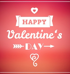 Valentine typographic design vector image