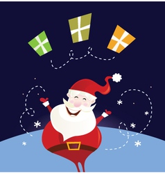 Santa claus with christmas presents vector